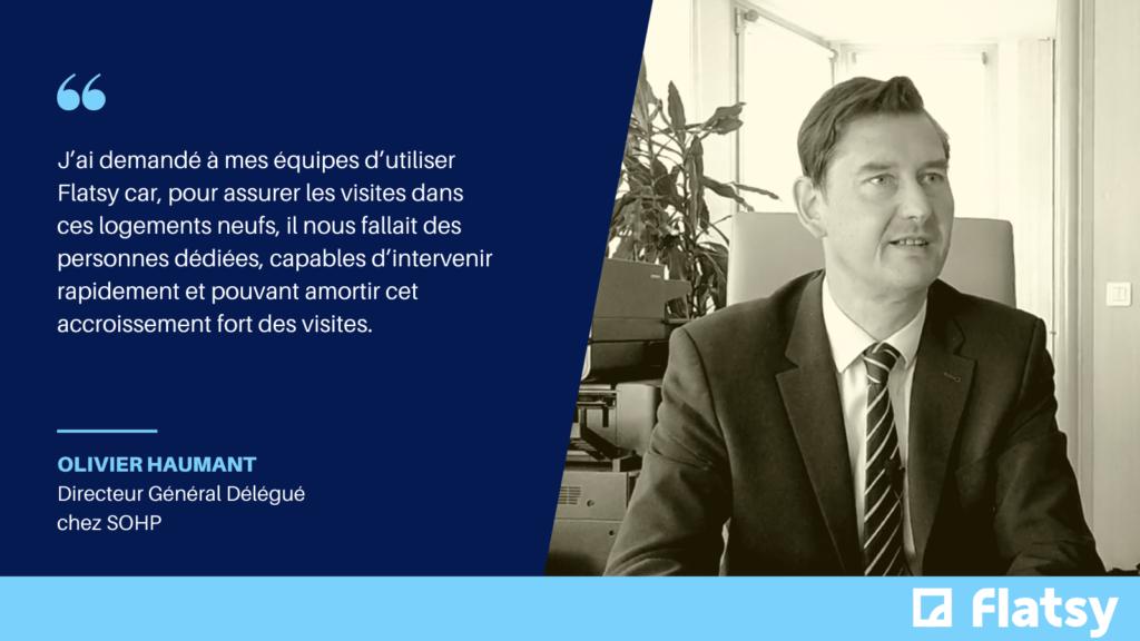 Citation de Olivier Haumant, directeur général délégué chez SOHP